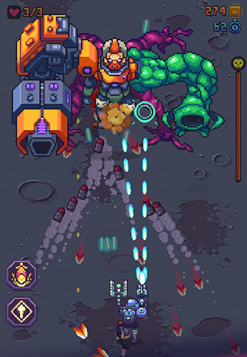 Space gunner: Retro alien invader