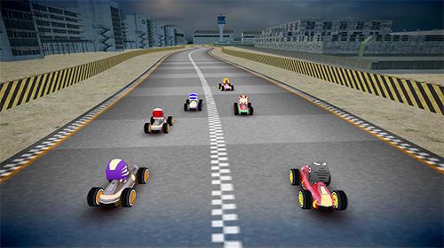 Rennspiele Rush kart racing 3D für das Smartphone