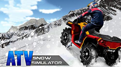ATV snow simulator Screenshot