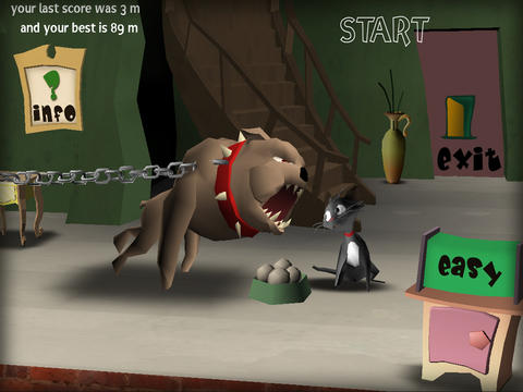 iPhone用ゲーム 猫の逃走 のスクリーンショット