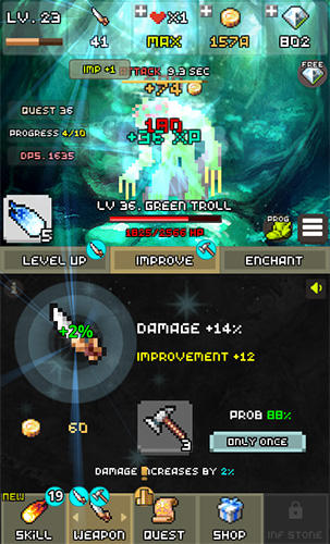 One combo sword: Grow your sword für Android