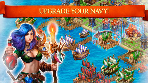 Dragons and vikings: Empire clash für Android