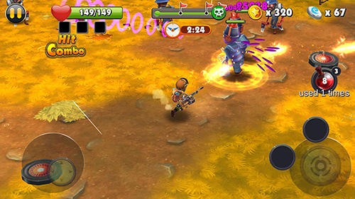 Action Zombie shooter: My date with a vampire. Zombie.io für das Smartphone