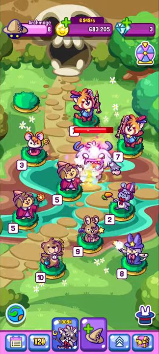 Merge Kawaii Wizards - Merge Games 2020 for Android