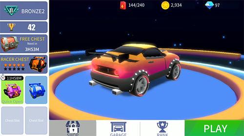 Rennspiele Blast racing für das Smartphone