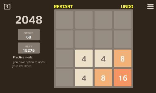 Puzzle games 2048 reborn in English