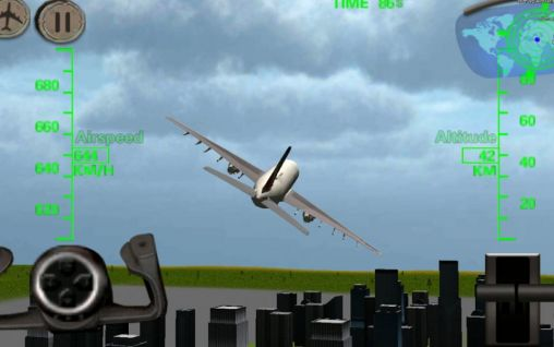 3D Airplane flight simulator für Android