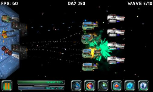 Space games Space station defender 3D in English