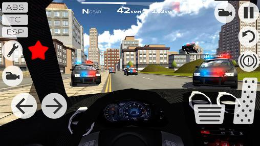 Course Extreme car driving racing 3D pour smartphone