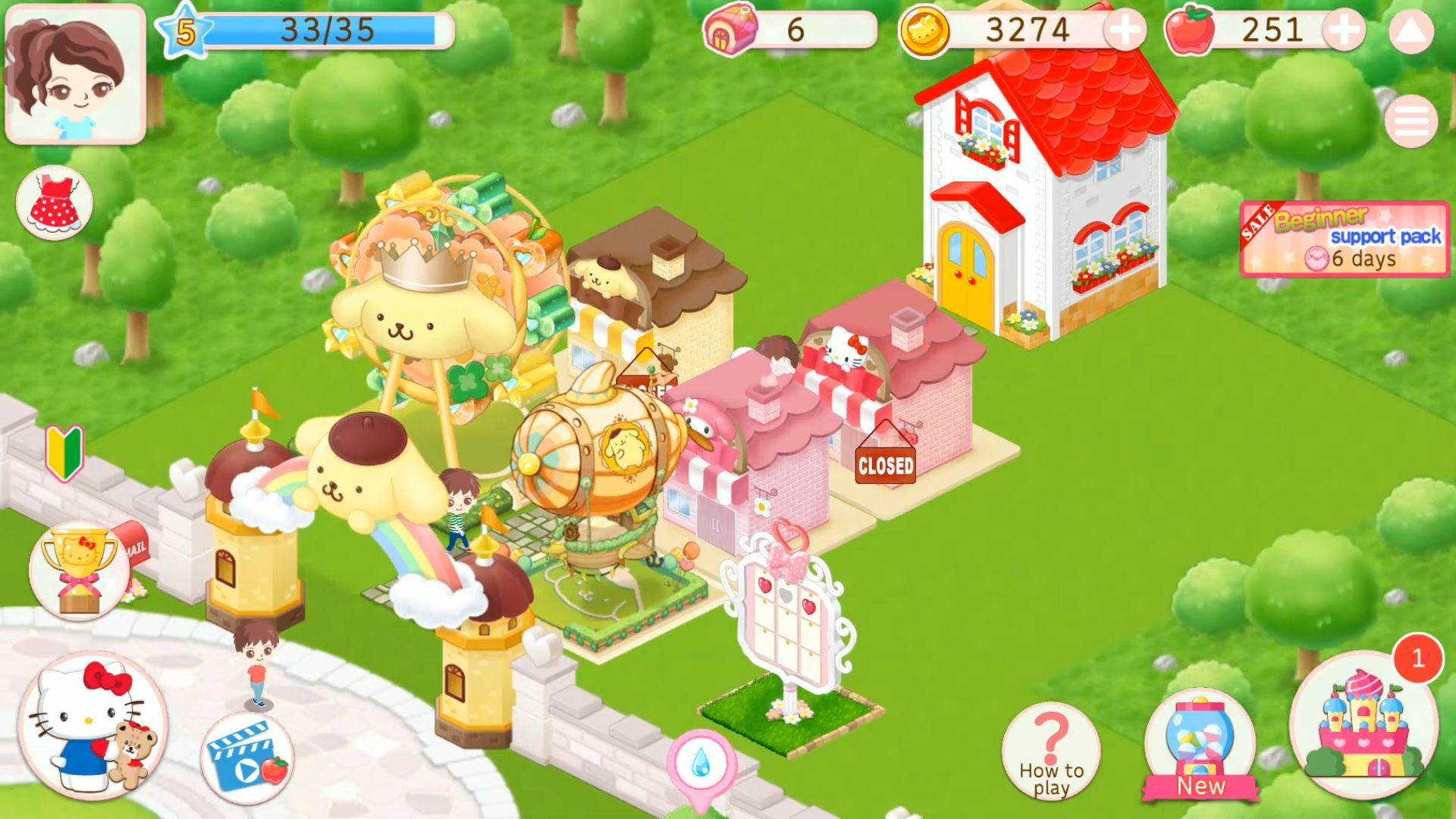 Hello Kitty World 2 Sanrio Kawaii Theme Park Game スクリーンショット1