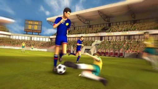 Sport Brazil Germany world cup. Striker soccer: Brasil für das Smartphone