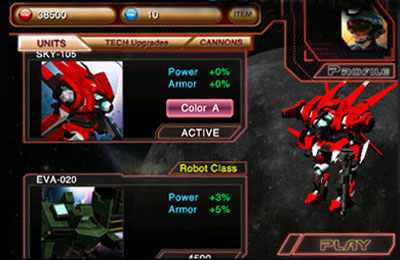 Shooter games Battle 3D: Robots Sky in English