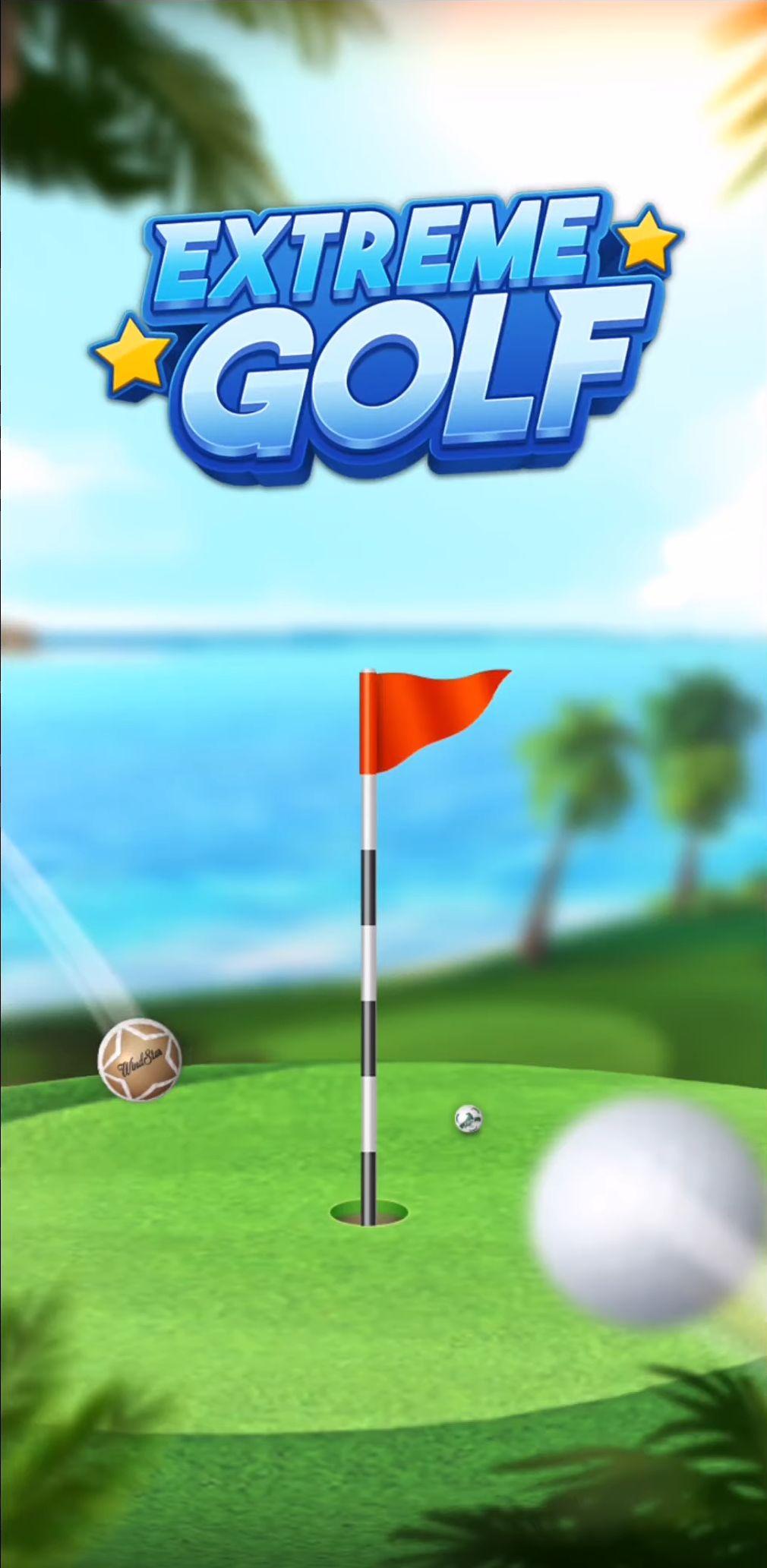 Extreme Golf - 4 Player Battle captura de tela 1