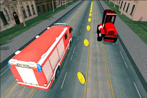 Truck car racing highway auf Deutsch