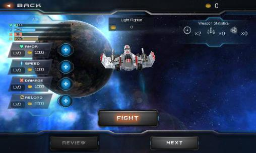 Galaxy war: Star space fighters für Android