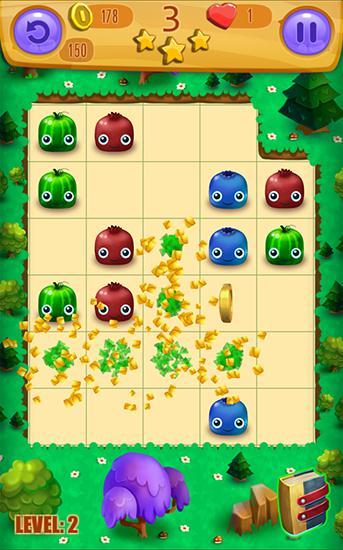 Arcade-Spiele Juicy blast: Fruit saga für das Smartphone