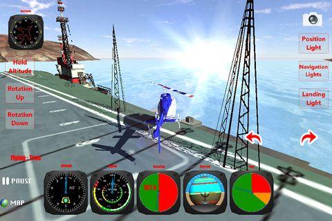 Hélicoptère: Simulateur des vols 3D pour iPhone gratuitement