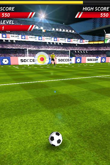Finger free kick master. Kicks soccer für Android