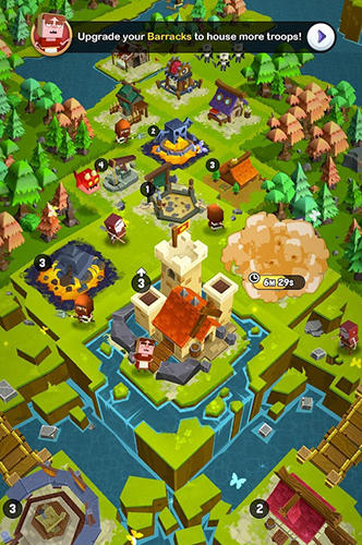 Strategiespiele Kingdoms of heckfire für das Smartphone