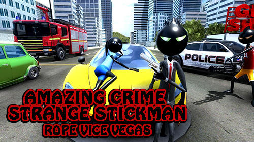 Amazing crime strange stickman: Rope vice Vegas screenshot 1