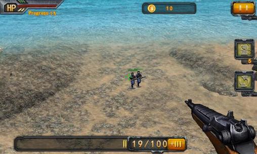 Arcade Beach sniper for smartphone