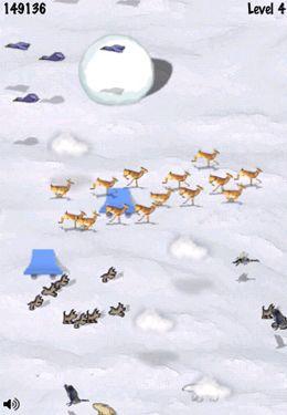 Screenshot Schneeball-Rennen auf dem iPhone
