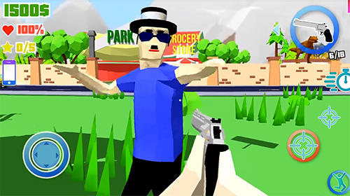 Action games Dude theft wars: Open world sandbox simulator for smartphone