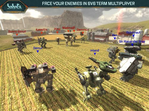 Screenshot Kriegsroboter auf dem iPhone