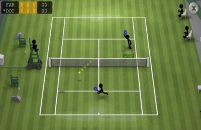 Strichmännchen-Tennis auf Deutsch