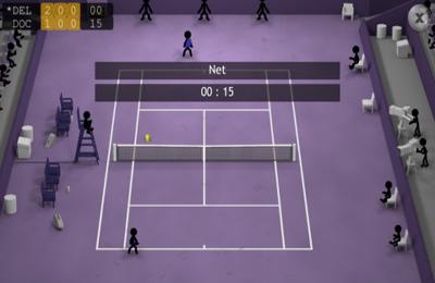 Screenshot Strichmännchen-Tennis auf dem iPhone