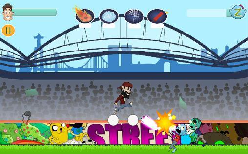 Arcade-Spiele Kicking zombies für das Smartphone