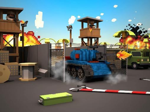 Actionspiele Blocky battlefield extreme für das Smartphone