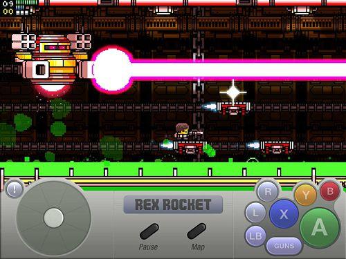 Arcade-Spiele: Lade Rex Rakete auf dein Handy herunter