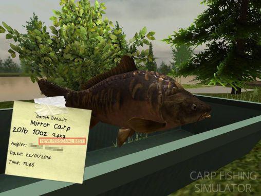 Carp fishing simulator in English