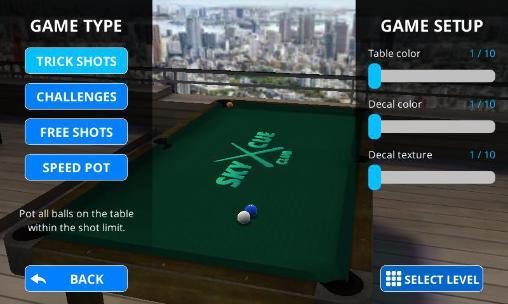 Multiplayerspiele Sky cue club: Pool and Snooker für das Smartphone