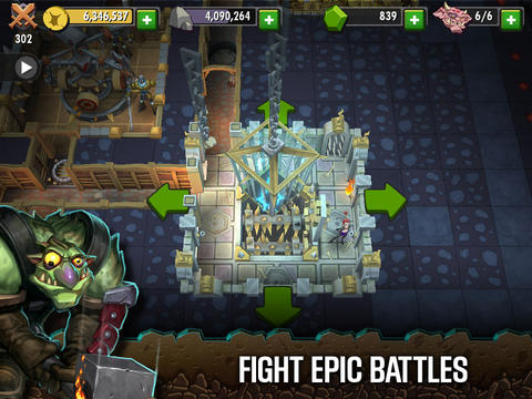 Dungeon Keeper for iPhone for free