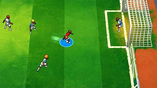 Sportspiele Kick and goal: Soccer match für das Smartphone