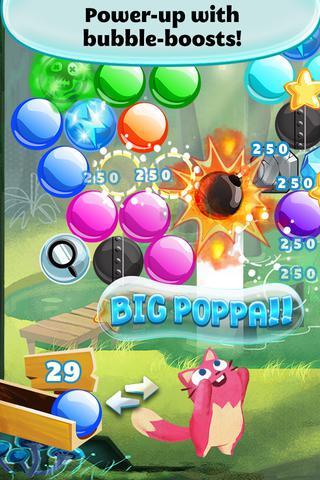 Arcade-Spiele Bubble mania: Spring flowers für das Smartphone