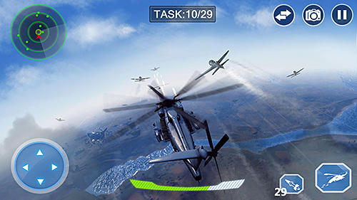 Simulação Air force lords: Free mobile gunship battle game para smartphone