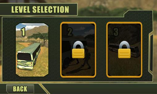 Simulation games Army transport bus driver for smartphone