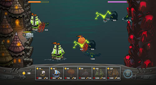 Ships vs sea monsters für Android