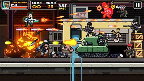 Metal mercenary: 2D platform action shooter screenshot 1