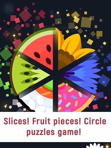 Slices! Fruit pieces! Circle puzzles game! Screenshot