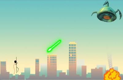 Arcade: Lade Strichmännchen Superheld auf dein Handy herunter
