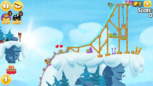 Screenshot Angry birds. Seasons: Ski or squeal on iPhone