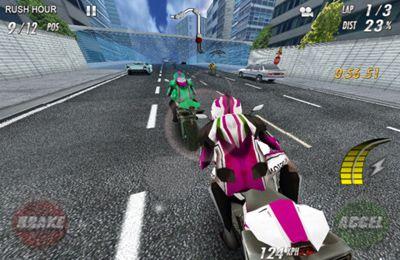 Raça na motocicletas. Poder completo em português