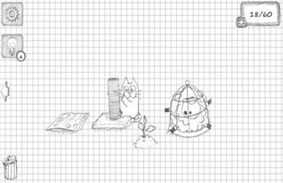 Screenshot Doodle Katze auf dem iPhone