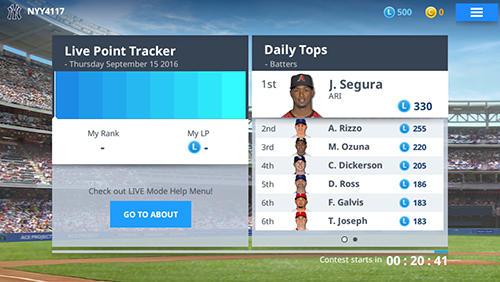Sport MLB 9 innings manager für das Smartphone
