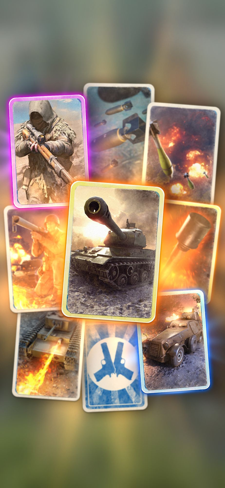 Heroes of War: WW2 Idle RPG captura de tela 1