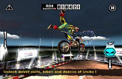 Screenshot Red-Bull Motocrossstunts 2012 auf dem iPhone